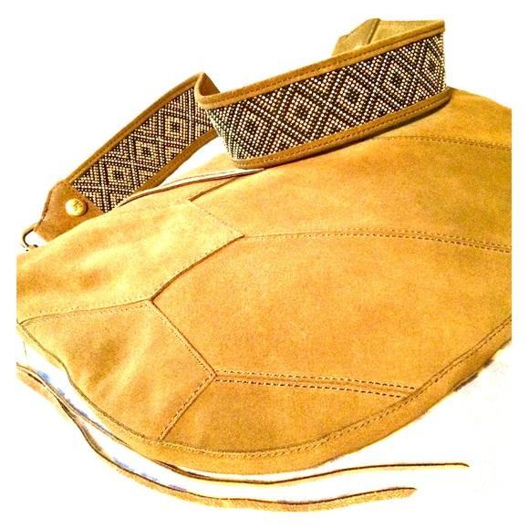 HOBO Beaded Guitar Strap Suede Shoulder Bag NWT 4fc9ca349a83e